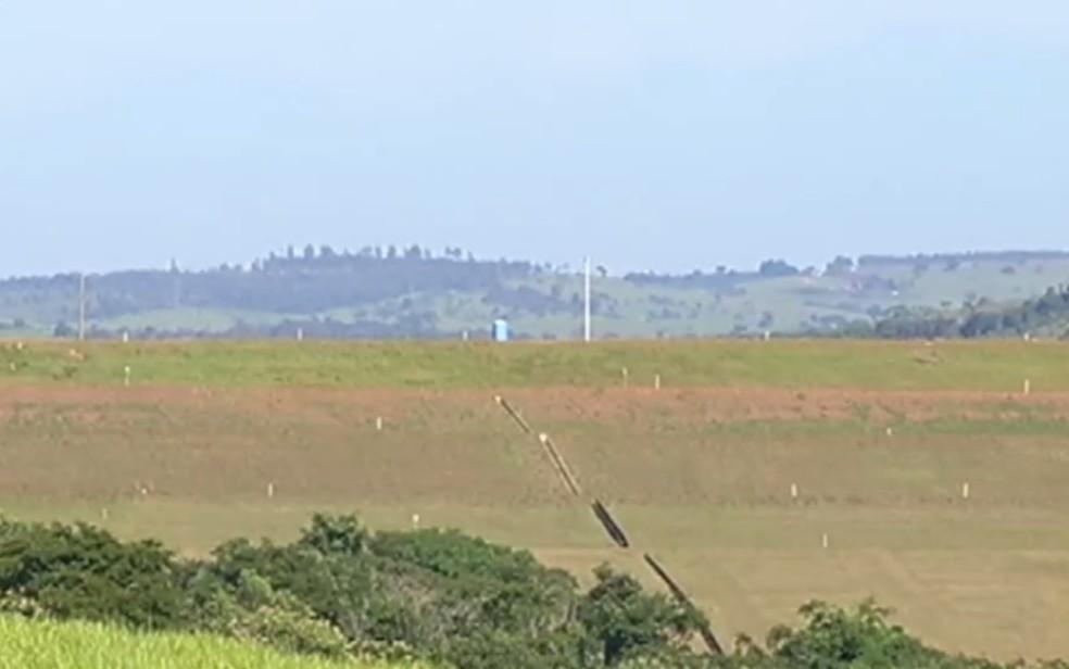 Mineradora em Catalão interdita barragem por falta de documentação de segurança em Goiás — Foto: Reprodução/TV Anhanguera