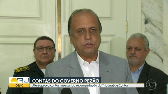 Alerj aprova contas do governo de Luiz Fernando Pezão
