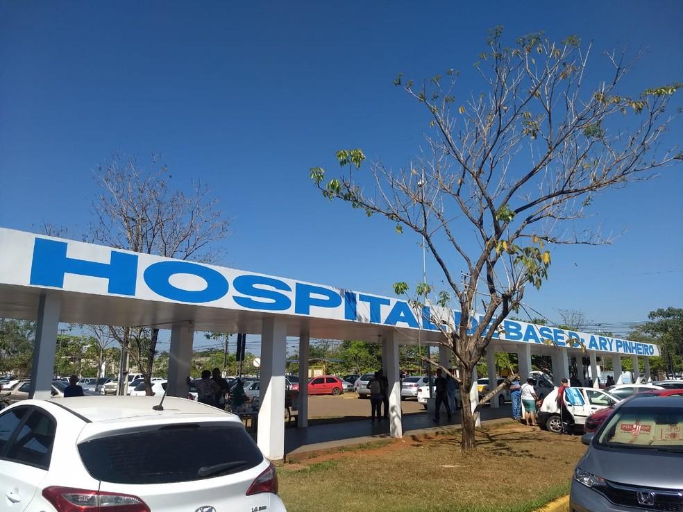 Bebê continua internado em estado estável no Hospital de Base de Porto Velho. — Foto: Diêgo Holanda/G1