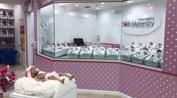 Maternidade para bebês reborn criada pela MacroBaby (Foto: Divulgação)