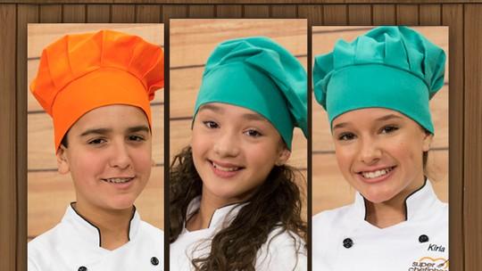Biel, Kailane e Kiria estão na final do 'Super Chefinhos'