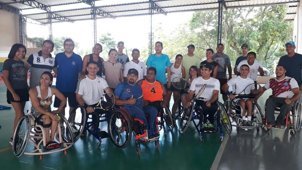 Tênis em cadeira de Rodas em Rondônia (Foto: Rosangela Gomes/ Arquivo pessoal)