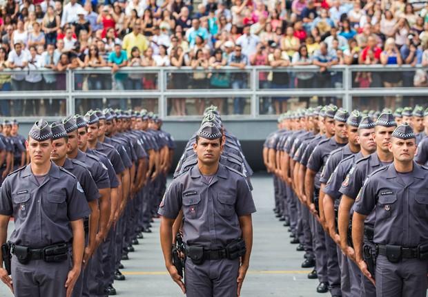 Formatura de cadetes da Polícia Militar em São Paulo em 2015 (Foto: Diogo Moreira/A2 Fotografia)