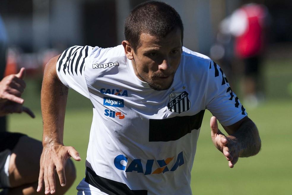 Recuperado de lesão muscular na coxa, Vecchio volta a ser relacionado do Santos (Foto: Ivan Storti/ Santos FC)