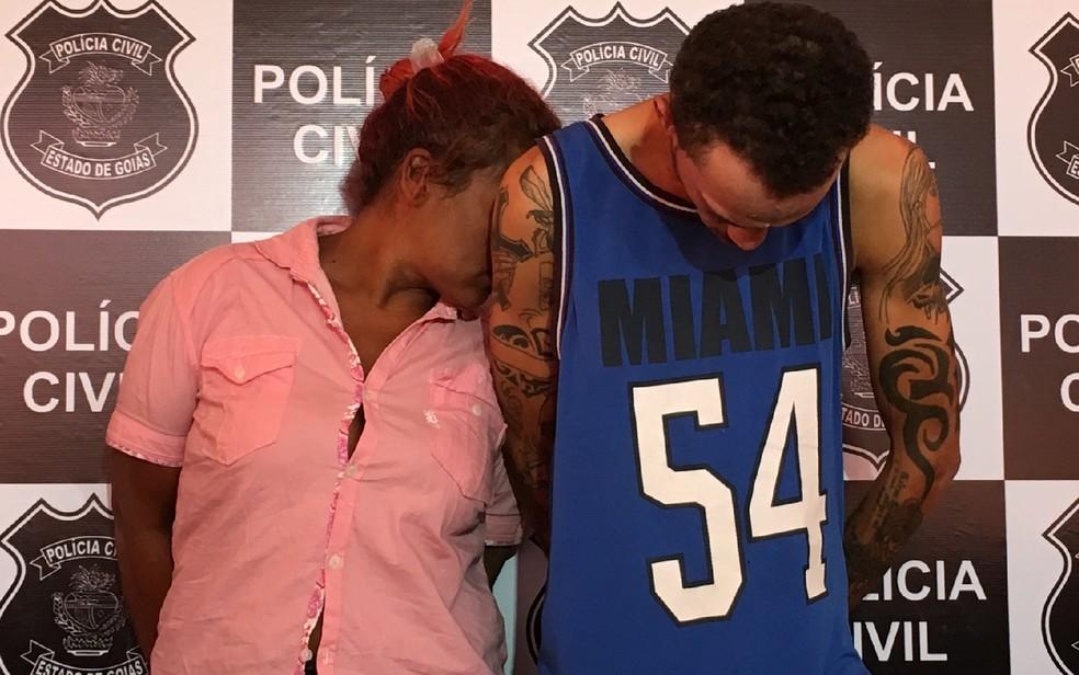 Casal é preso suspeito espancar grávida até a morte e atear fogo ao corpo (Foto: Sílvio Túlio/G1)