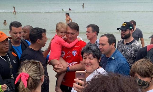 Jair Bolsonaro em Santa Catarina