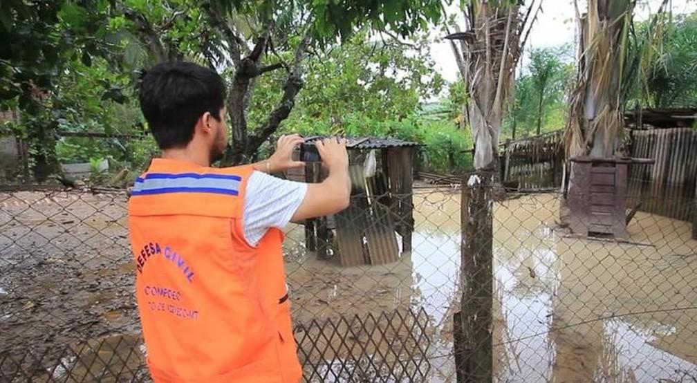 Danos foram levantados pela Defesa Civil Municipal — Foto: Prefeitura de Peixoto de Azevedo-MT/Divulgação