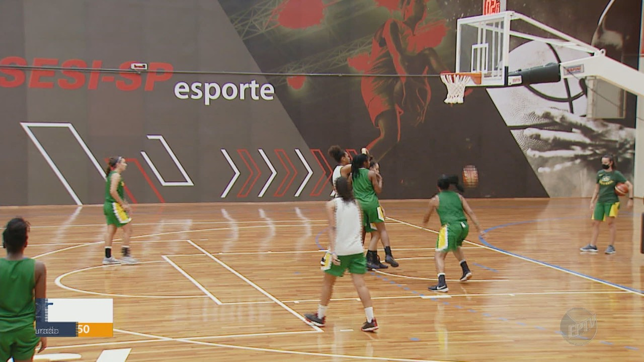 Seleção brasileira de basquete Sub-18 treina em Araraquara para a Copa América