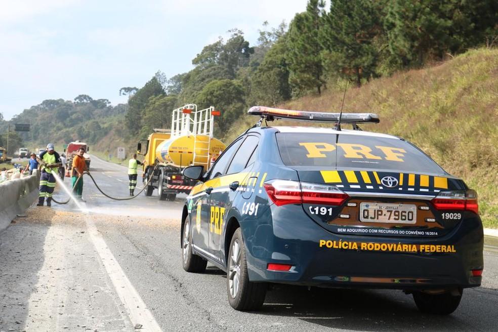 Segundo a PRF, número de mortes aumentou 8,2%  — Foto: PRF/Divulgação