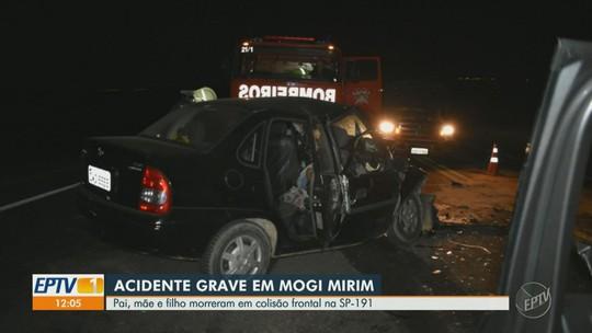 Batida frontal em Mogi Mirim mata três pessoas da mesma família; FOTOS