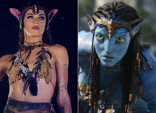 Pabllo Vittar se inspira em personagem de Avatar (Foto: Reprodução/ Instagram)