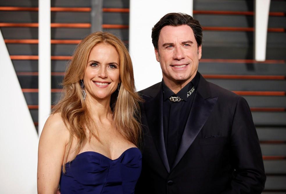 Kelly Preston e John Travolta em foto de 2015 — Foto: Danny Moloshok/Arquivo Reuters