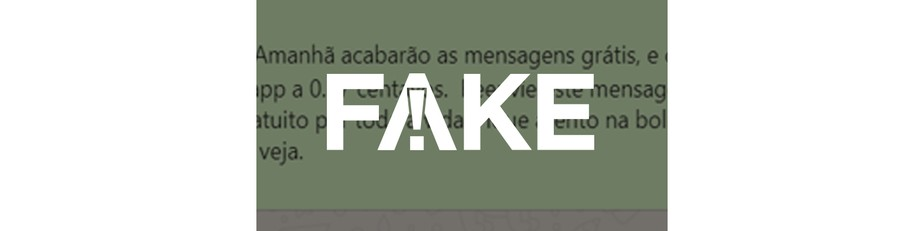é Fake Que Whatsapp Passará A Cobrar R 037 Por Envio De