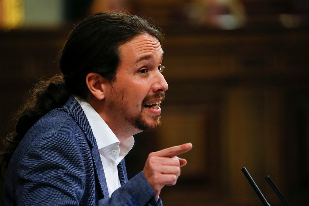 O fundador do Podemos, Pablo Iglesias. — Foto: Juan Medina/Reuters