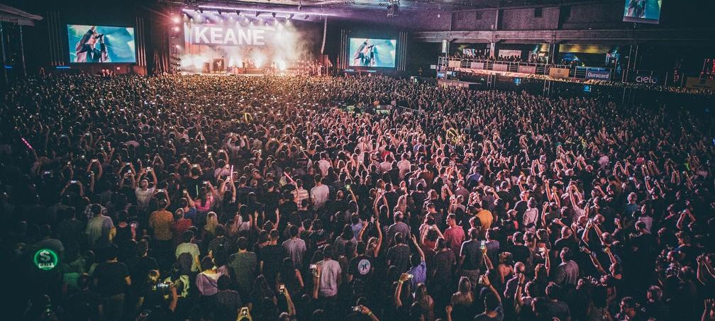 Keane toca no Espaço das Américas em São Paulo — Foto: Stephan Solon / Move Concerts