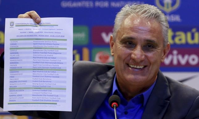 Tite divulga lista de convocados para a Copa do Mundo Na Rússia