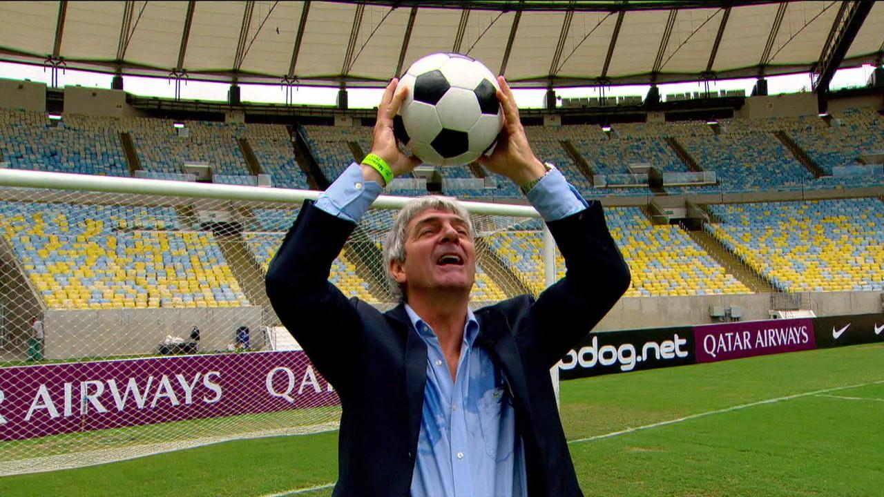 No ano passado, o ídolo italiano visitou o Maracanã