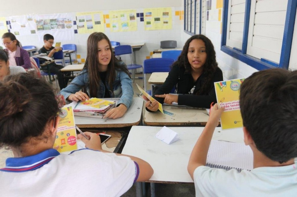 Escola de ensino fundamental integral em Alagoas — Foto: Valdir Rocha e José Demétrio/Seduc-AL
