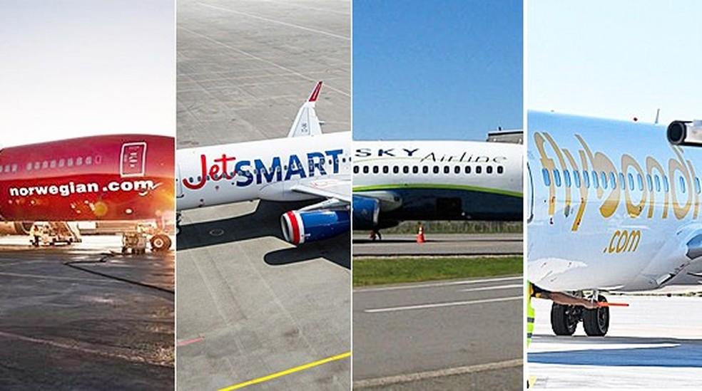 Novas empresas low cost começaram a atuar no Brasil — Foto: Montagem G1