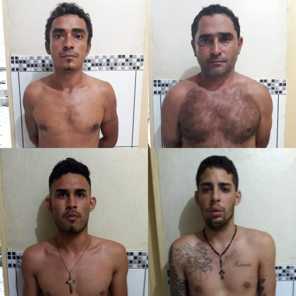 Bruno de Lima, Mateus Silva, Erisvando Rodrigues e Francisco Silva foram presos por suspeita de participação em arrombamento de banco no Maranhão — Foto: Divulgação/Polícia Civil