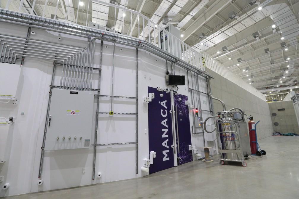 Estação de pesquisa Manacá, primeira a ficar pronta e operacional no Sirius, em Campinas (SP) — Foto: CNPEM/Divulgação