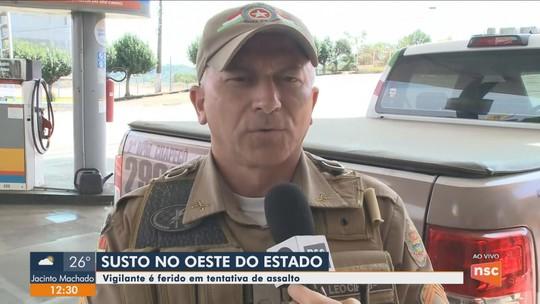 Vigilante reage a assalto e detém suspeitos em posto de combustíveis no Oeste catarinense