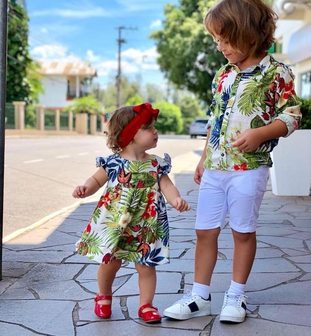 filhos de Adriana Santana (Foto: Reprodução Instagram)