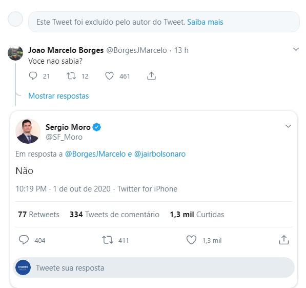 Sergio Moto apaga post sobre indicação para o STF