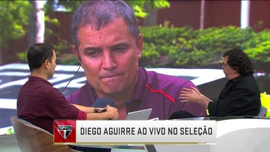Aguirre elogia atacante que negocia com São Paulo e minimiza atrito entre goleiros