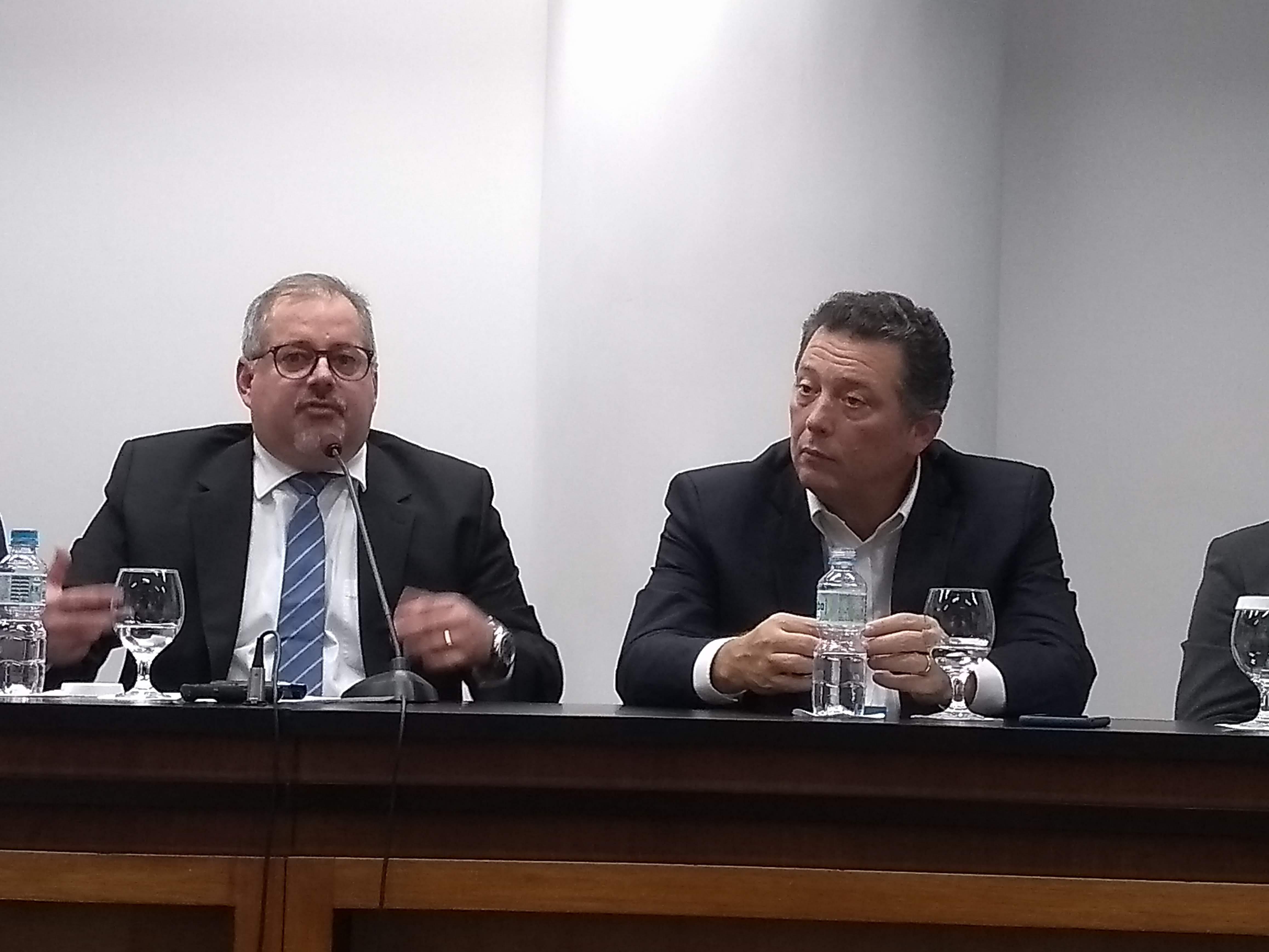 Maurício Palma Nogueira, da Athenagro, e André Pessoa, da Agroconsult (Da esq. para dir.) (Foto: Divulgação)