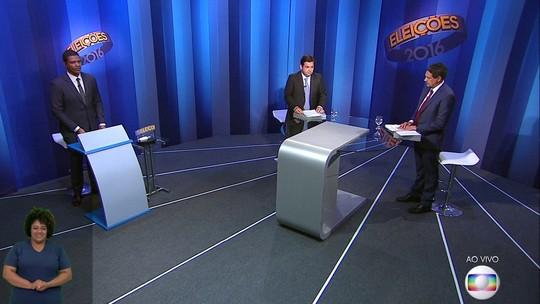 Debate com candidatos do Recife na TV Globo