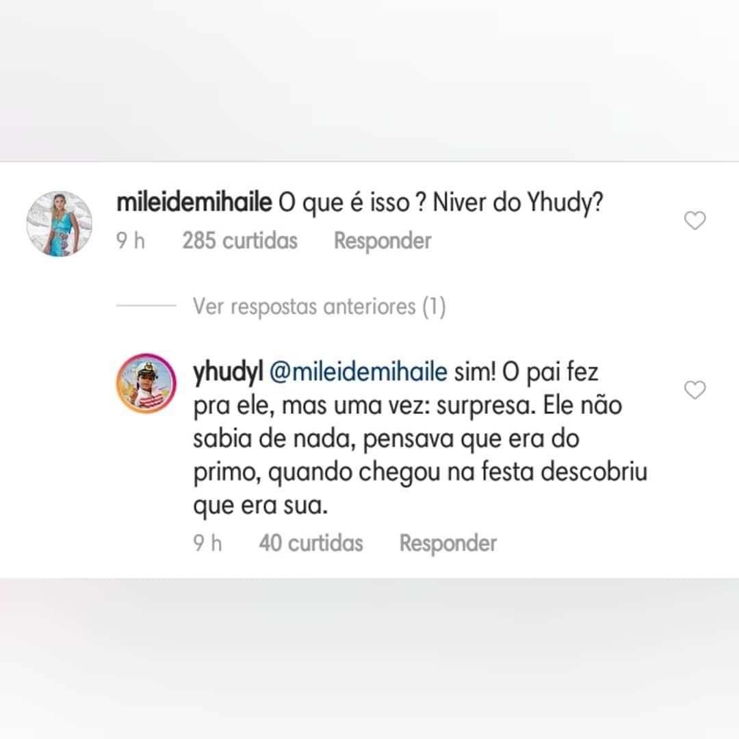 Comentário Mileide Mihaile (Foto: Reprodução Instagram)