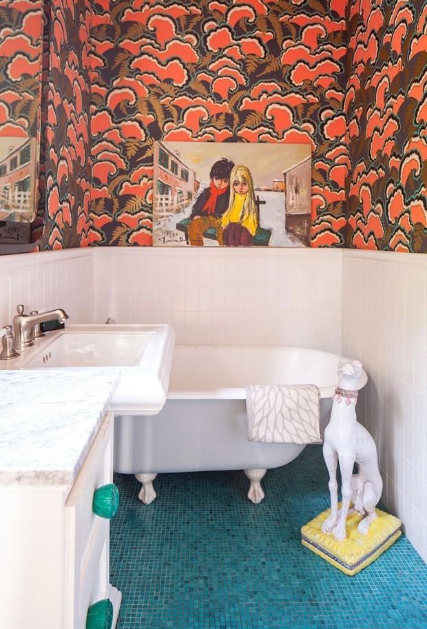 Top 10 banheiros e lavabos com estampas (Foto: Divulgaçao)