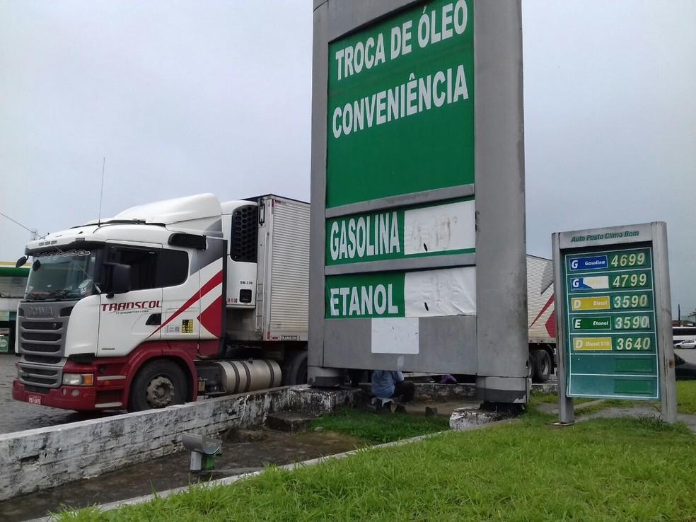 Preço médio do diesel caiu R$ 0,35 na última semana. (Foto: Andréa Resende/ G1)