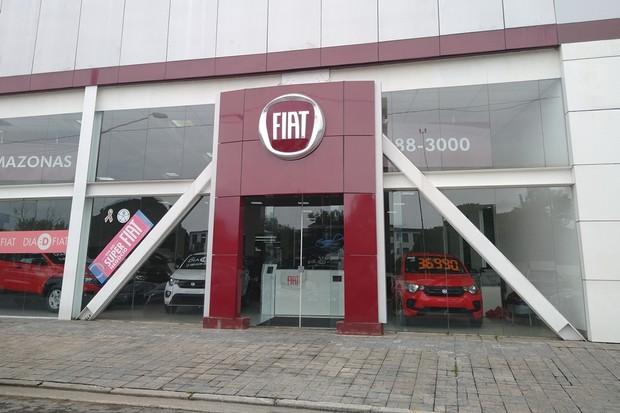 Concessionária Fiat Fechada (Foto: Ulisses Cavalcante/Autoesporte)