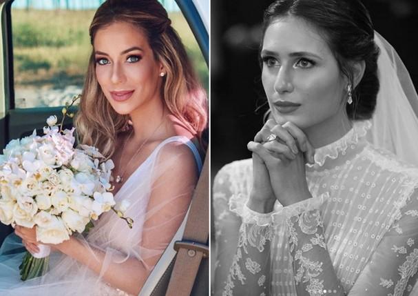 Helena Lunardelli e Juliana Carvalho: beleza de noiva (Foto: Reprodução/Instagram)