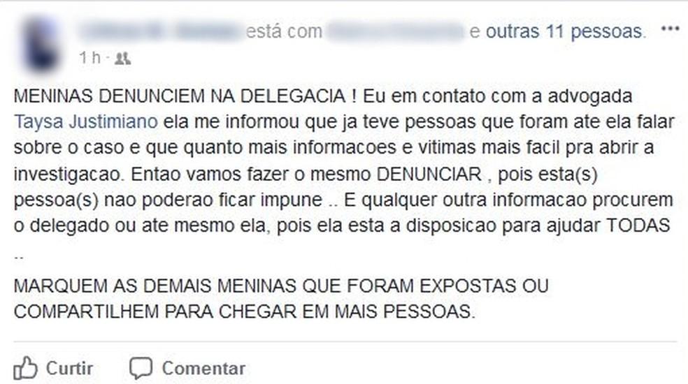 Vítimas se reuniram para conseguir denunciar caso de lista em Muzambinho (MG) (Foto: Reprodução/Facebook)