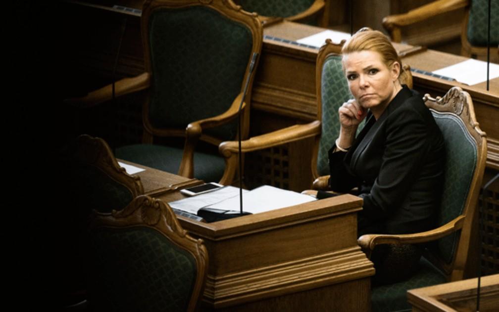 Ministra da Imigração e Integração da Dinamarca, Inger Støjberg, em 2016 — Foto: Mathias Loevgreen Bojesen/Scanpix/Reuters