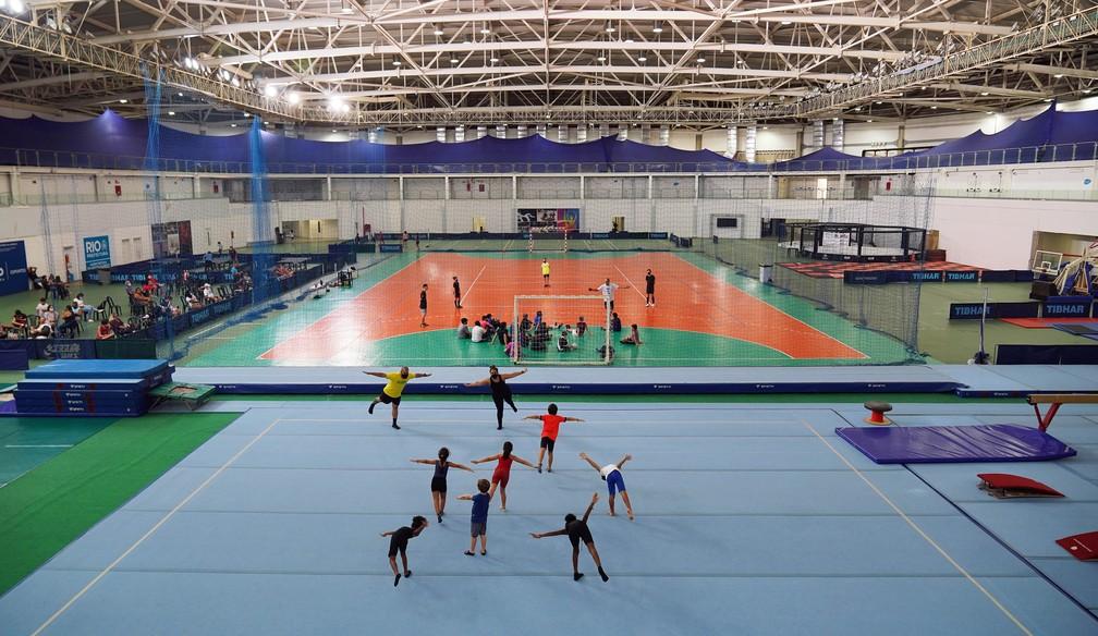 A Arena 3, no Parque Olímpico, tem aulas de diversas modalidades — Foto: Marcos Serra Lima/G1
