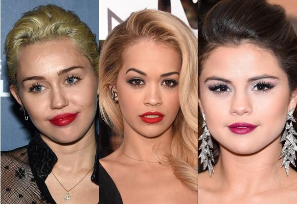 Miley Cyrus, Rita Ora e Selena Gomez já apostaram no look (Foto: Getty Images)