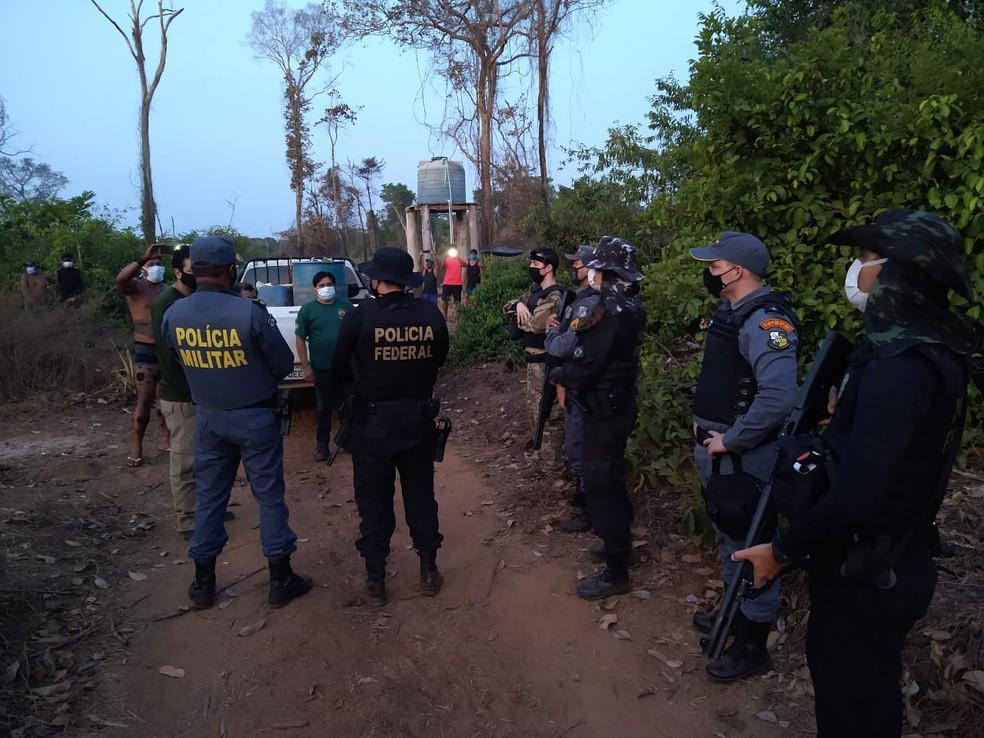 Negociação para resgate de reféns foi feita por 2 dias — Foto: Polícia Militar