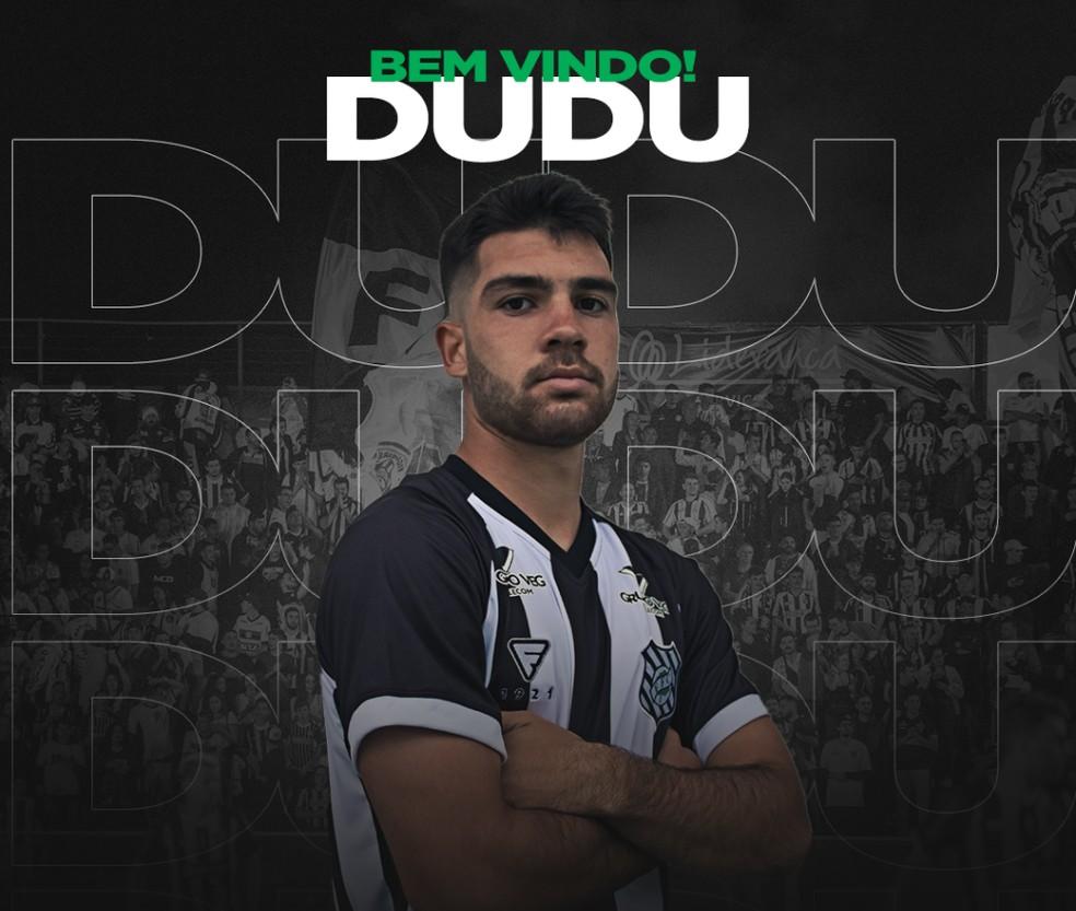 Dudu é oficializado como reforço do Figueirense — Foto: Divulgação / Figueirense FC