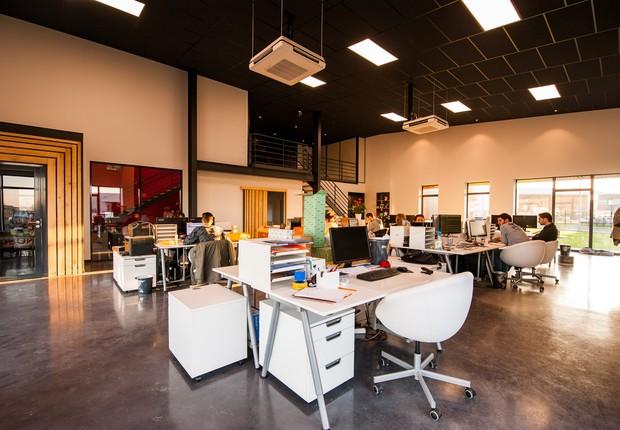 Funcionários em escritórios sem divisões entre as mesas ou com divisórias baixas são mais ativos, segundo pesquisa (Foto: Pexels)