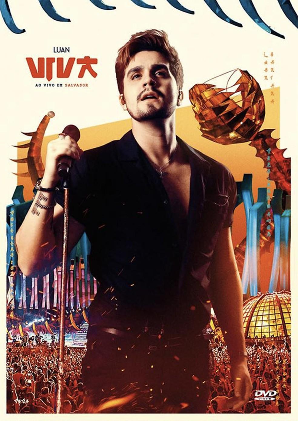 Capa do DVD 'Viva – Ao vivo em Salvador', de Luan Santana — Foto: Reprodução / Facebook Luan Santana