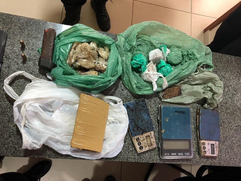 -  Foram apreendidas drogas e armas durante a operação  Foto: Reprodução/Polícia Civil do Pará