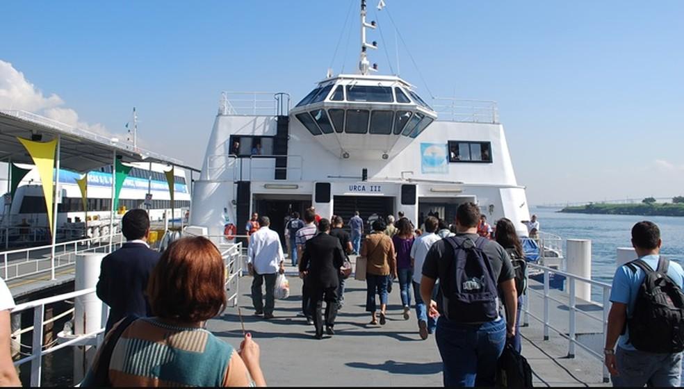 Passageiros usam serviço das Barcas — Foto: Reprodução / Redes Sociais