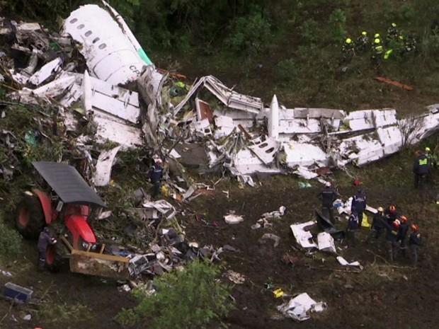 Acidente com avião da Chapecoense (Gnews) (Foto: GloboNews)