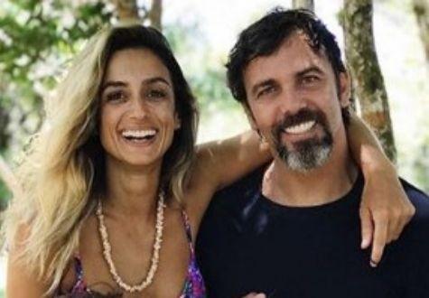 Marcelo Faria com a ex-mulher, Camila Lucciola (Foto: Reprodução)