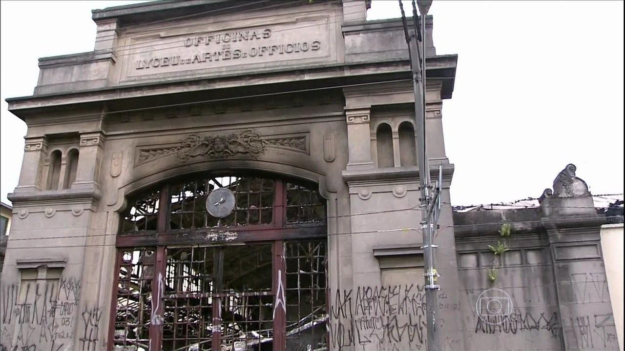 Liceu de Artes e Ofícios em São Paulo (Foto: Reprodução/TV Globo)