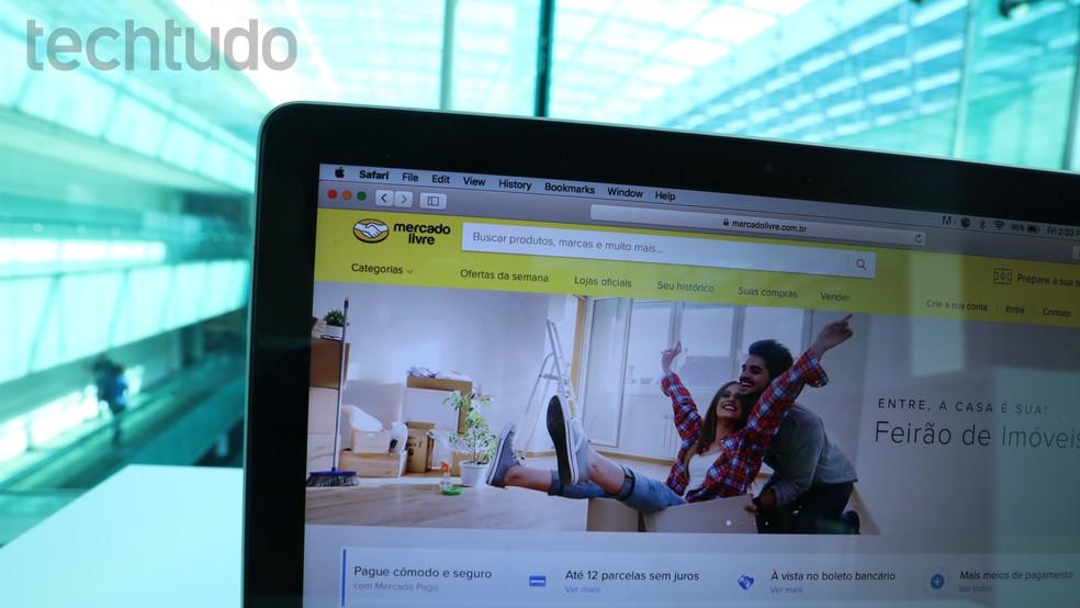 Usuários podem usar o Mercado Livre para vender produtos na Internet — Foto: Eduardo Manhães/TechTudo